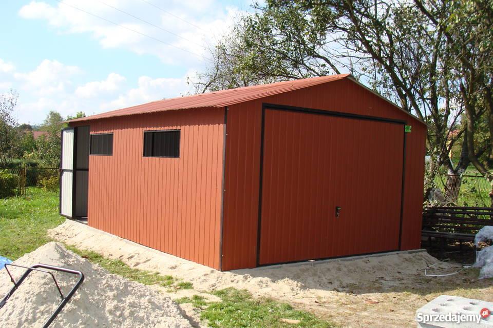Wspaniały Garaż 4x6 w kolorze , dwuspadowy , blaszaki , wiaty , hale HB32