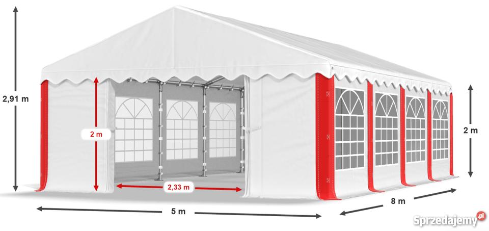 5x8 Namiot Imprezowy Pe Handlowy Ogrodowy Wysyłka Gratis