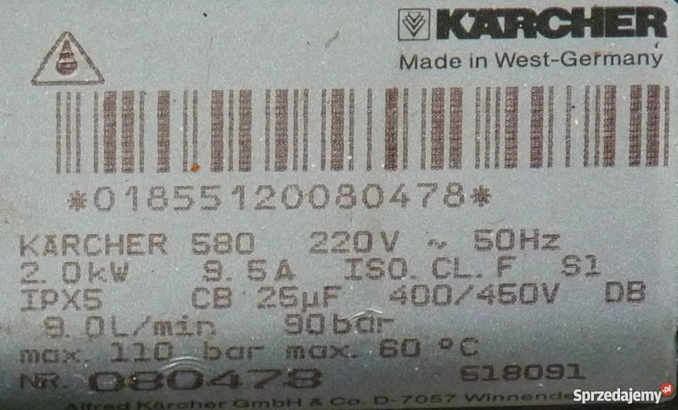 MYjka ciśnieniowa Karcher 580 aluminiowa Wrocław