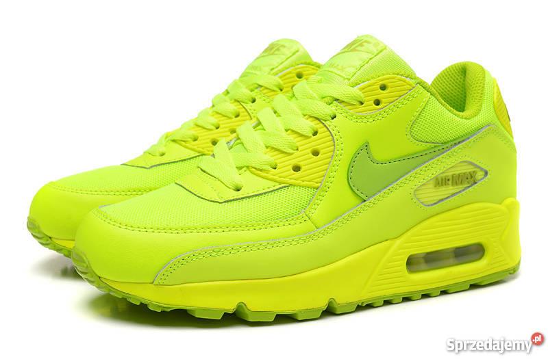 NIKE AIR super buty sportowe damskie neonowe R.38