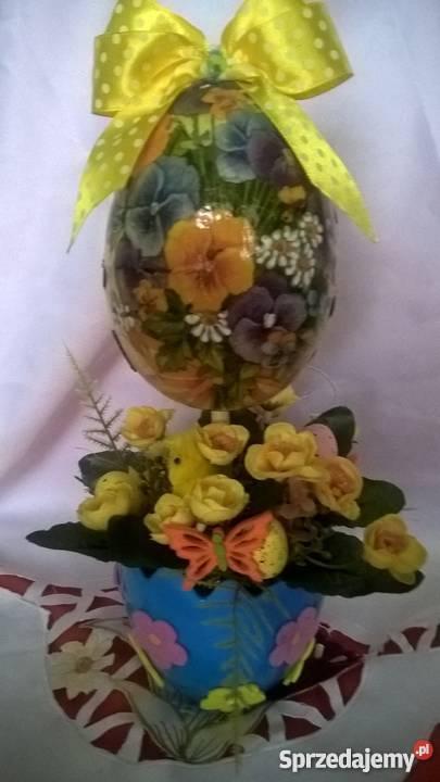 Drzewko Stroik Wielkanoc Rękodzieło Królik Jajko