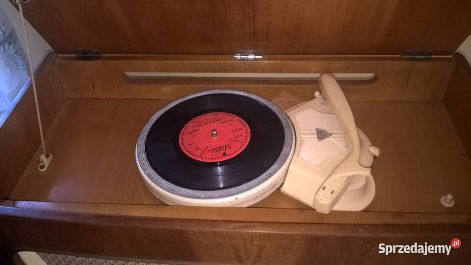 "Radio lampowe Menuet PRL stare,gramofon ""antyk z duszą"""