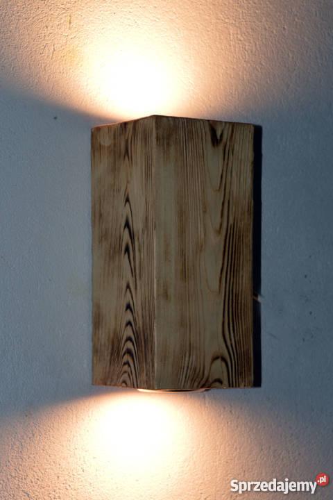 Kinkiet belka drewniana LED VINTAGE LOFT inny kolor Szczecin