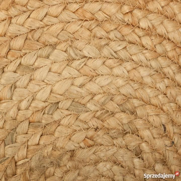 Dywan Okrągły Jutowy Naturalny 120 Cm Jakość