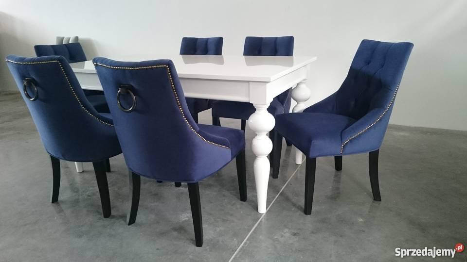 Niewiarygodnie Krzesło tapicerowane pikowane z pinezkami z kołatką hampton QZ38