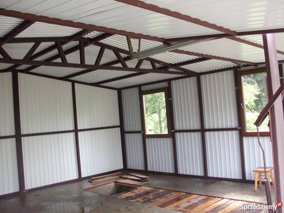 Garaze Blaszane 6x6 Profil Zamknięty Okna Kolor Akryl Jaworzno