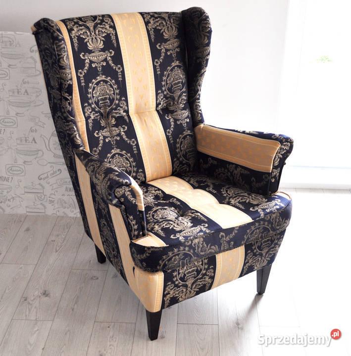 Fotel Uszak w angielskim stylu
