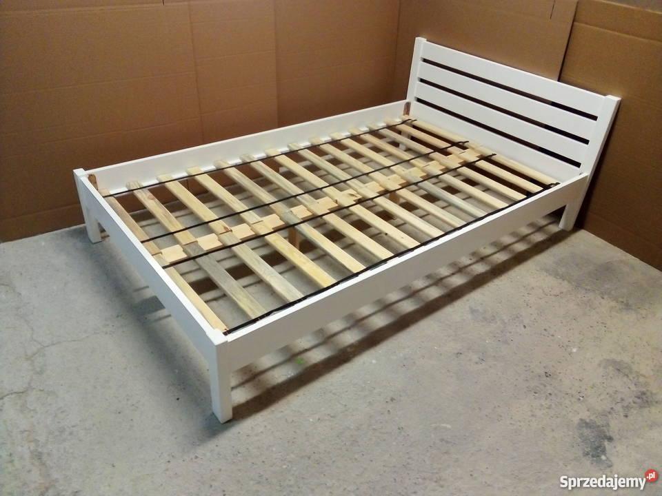 Łóżko sypialniane białe 160x200
