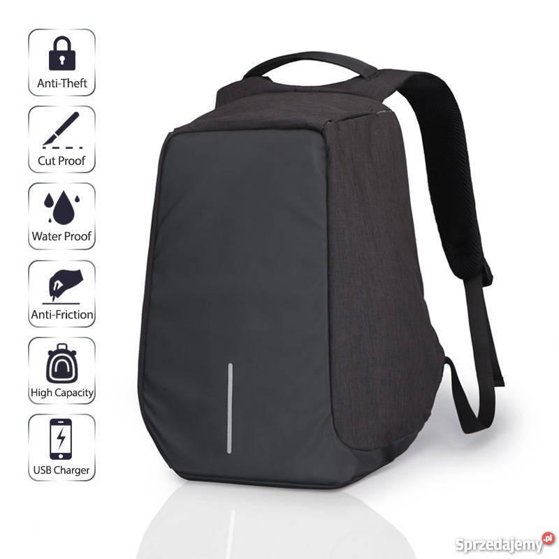 ce863a683ee5c Bobby funkcjonalny plecak antykradzieżowy z portem USB ! Lublin ...