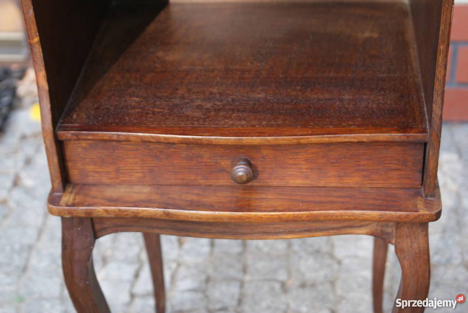 Drewniana komódka szafeczka stolik nocny styl mazowieckie