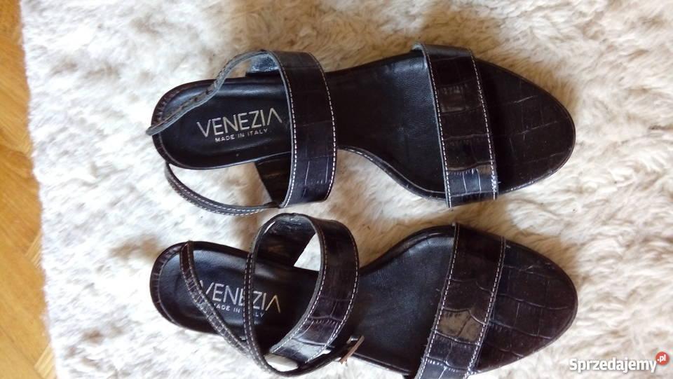 a2e7017a20b64 Venezia sandały na obcasie czarny Sandały i klapki śląskie Częstochowa