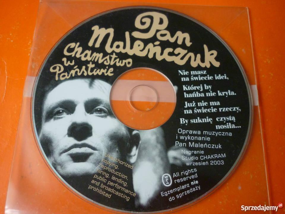 Płyta CD Pan Maleńczuk Chamstwo w Państwie