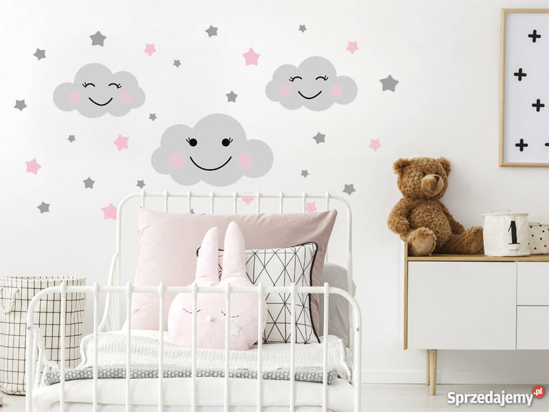 Naklejki Na ścianę Dla Dzieci Chmurki