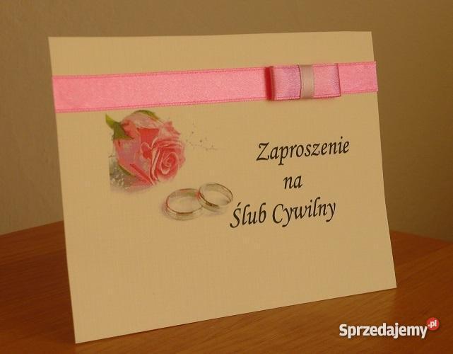 Zaproszenie Na ślub Cywilny Zaproszenia Nowość Sprzedajemypl