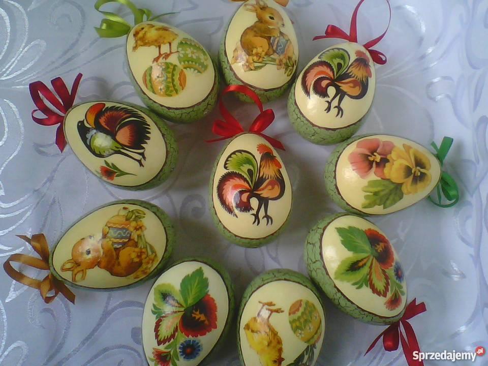 Pisanki decoupage jajka wielkanocne dekupaż Częstochowa sprzedam