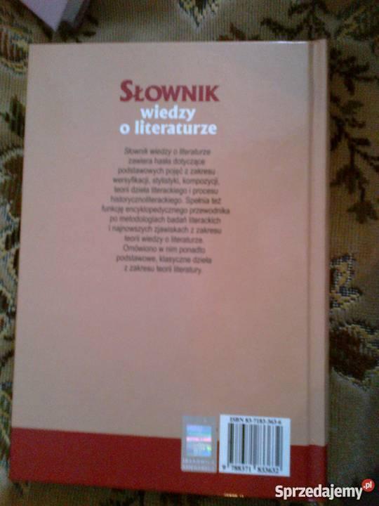 Słownik wiedzy o literaturze Videograf II encyklopedie, słowniki, leksykony Warszawa sprzedam