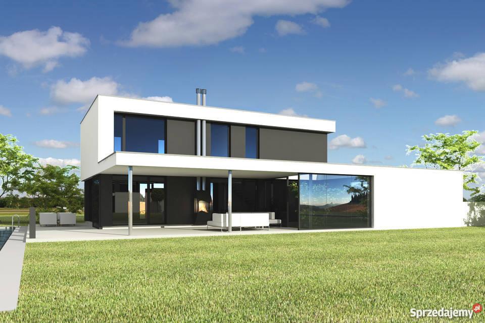 projekt domu nowoczesnego eko płaski dach PS-GS-90-20-G2-V7