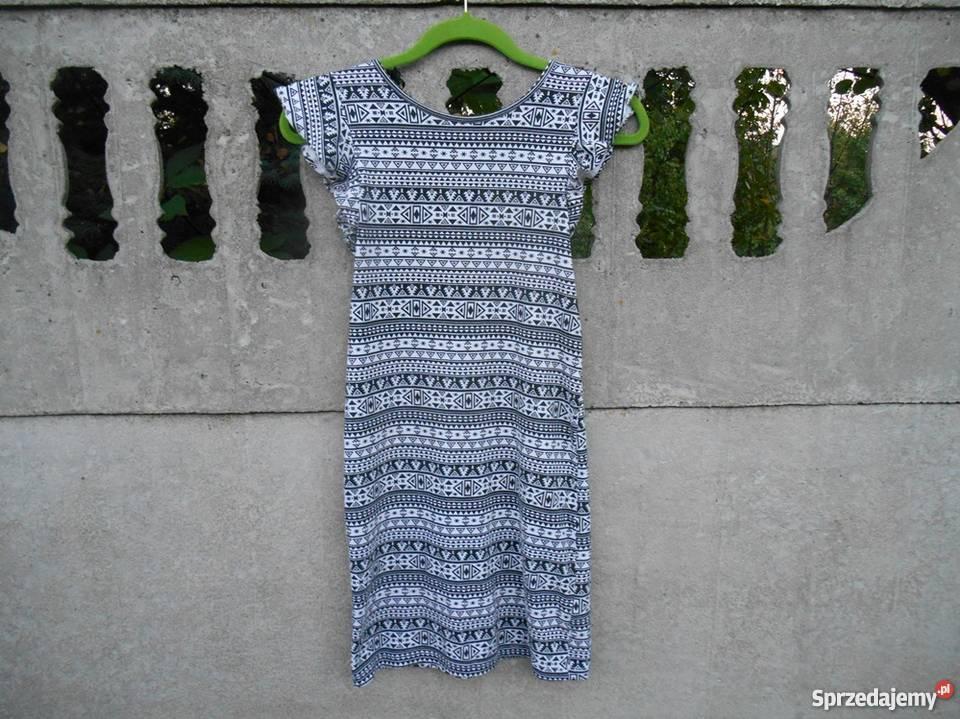 5e8e6e3408 Sukienka 152 na 11-12 lat czarna w białe wzorki Dębica - Sprzedajemy.pl
