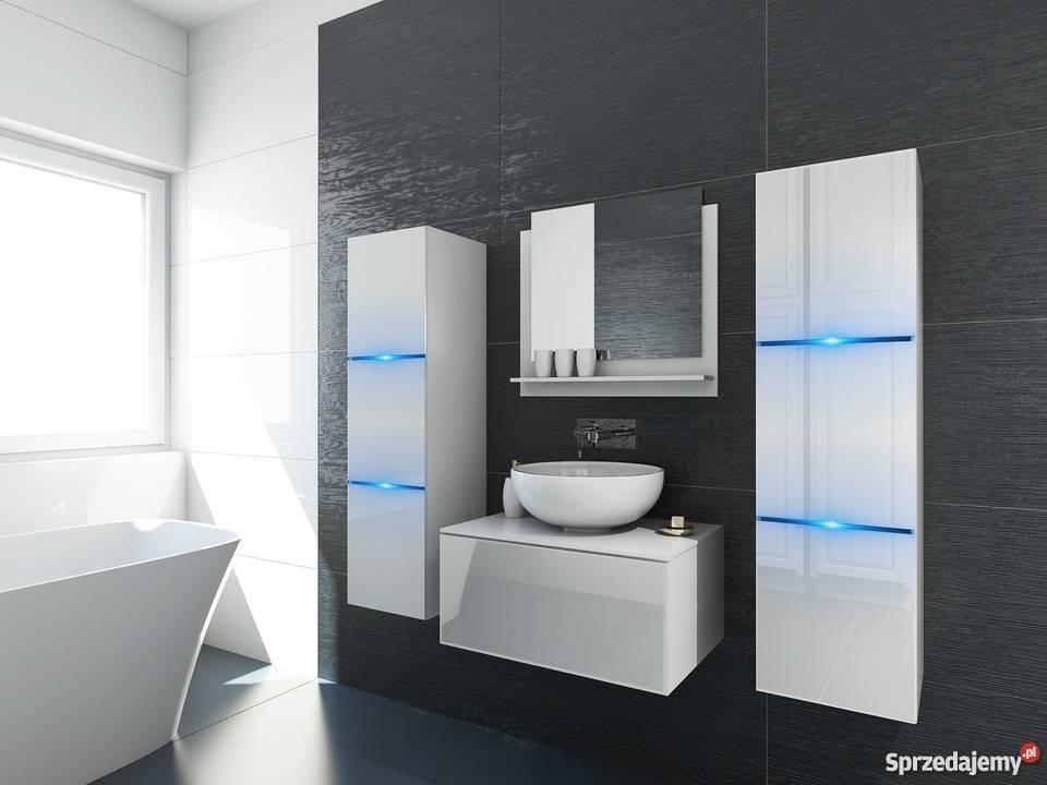 Meble łazienkowe biały połysk zestaw LIKE II 60