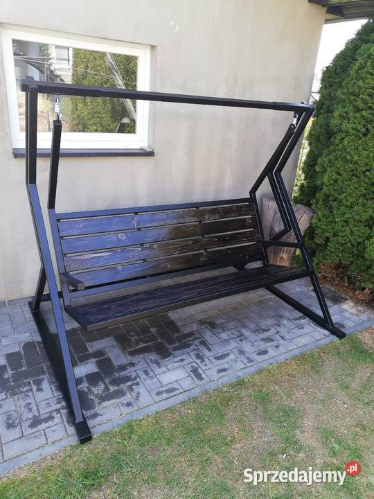 Huśtawka ogrodowa metalowa , meble ogrodowe