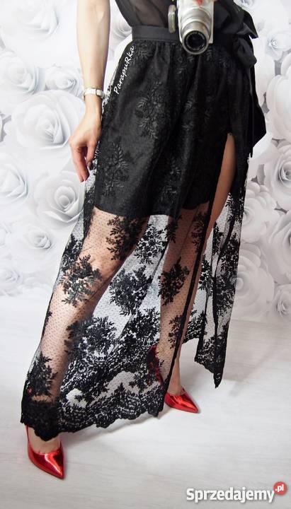 Długa koronkowa spódnica. Wesele, na co dzień S XL