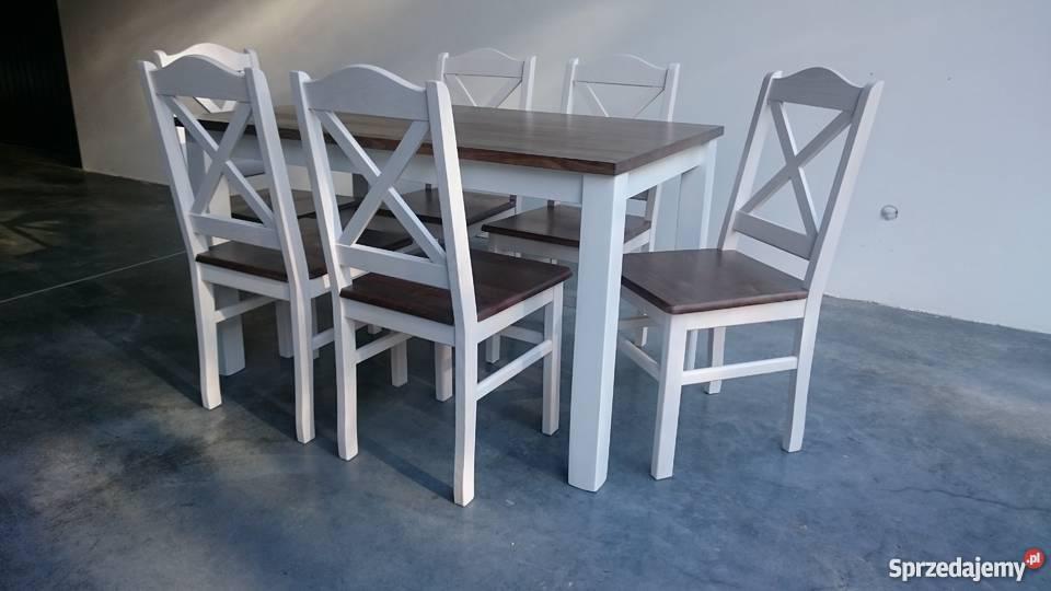 Skandynawskie prowansalskie krzesło krzyżak do restauracji