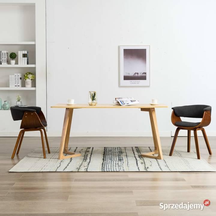 vidaXL Krzesła do jadalni, 2 szt., szare, gięte (278727)