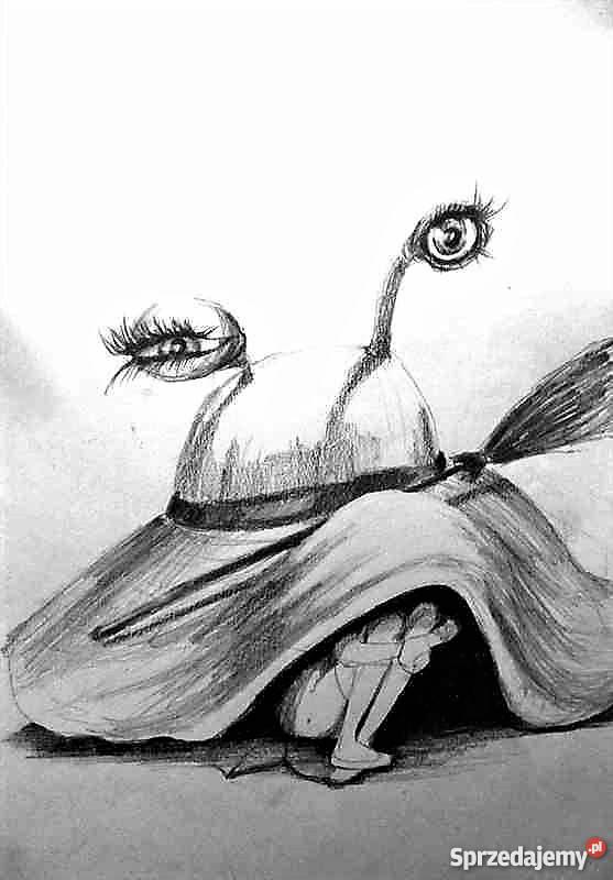 Rysunek Ołówkiem Kapelusz Artystki Adriany Laube Katowice