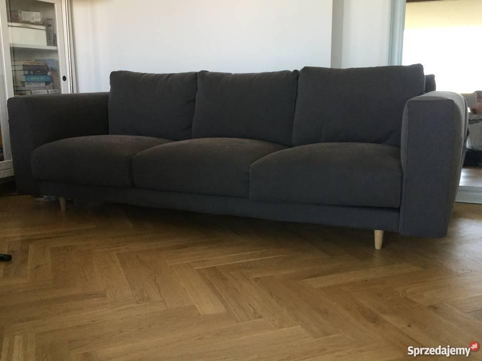 Ikea Sofa 3 Osobowa Nierozkładana Kanapa Szara łóżko