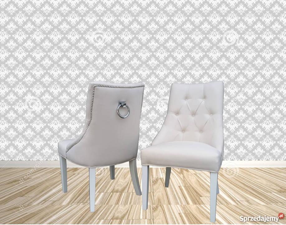 Krzesło chesterfield z kołatką pinezkami Lublin