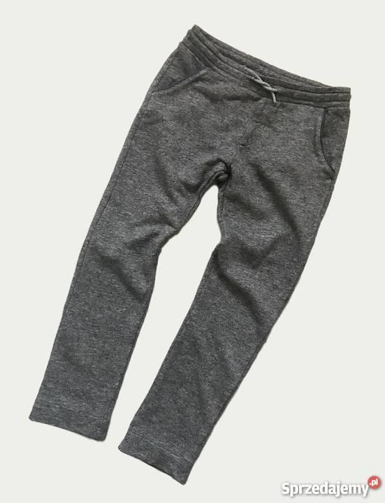Spodnie chłopięce ZARA chinosy joggery dzianiny melanż 152