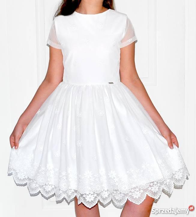 6387c60e64 Sukienka dziewczynki z przepiękną koronką w Sukienki i spódniczki Kielce