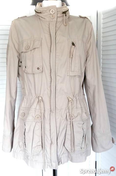 c64d0aae6019c Damska kurtka trencz płaszcz parka khaki beż Cherokee F&F 46 ...
