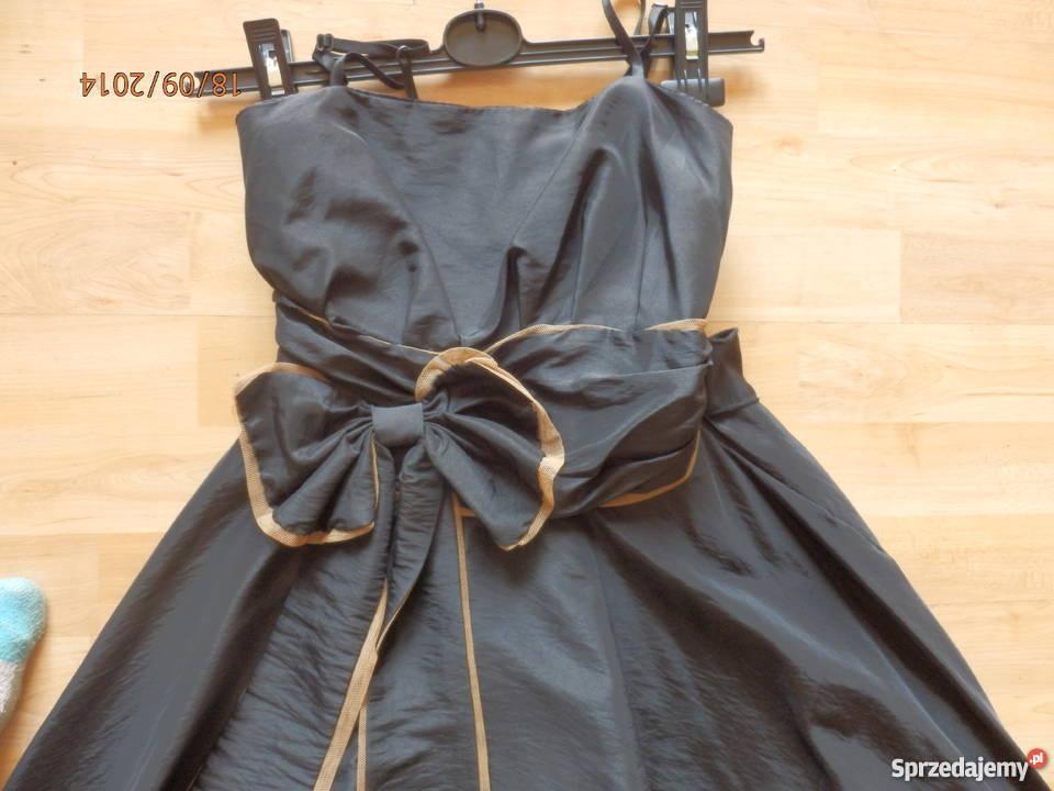a8e2ecc37b Czarna sukienka bombka z kokardą japan style Sosnowiec - Sprzedajemy.pl