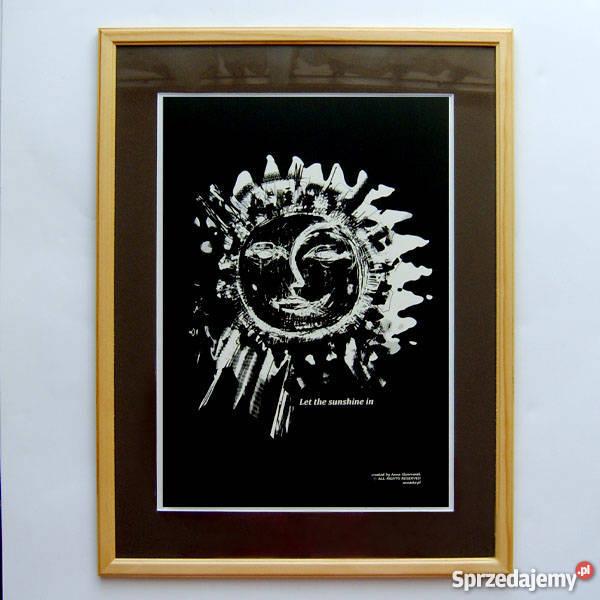 21x30 Let the sunshine in 2czarnobiały plakat sprzedam
