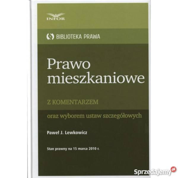 Prawo mieszkaniowe z komentarzem Warszawa sprzedam