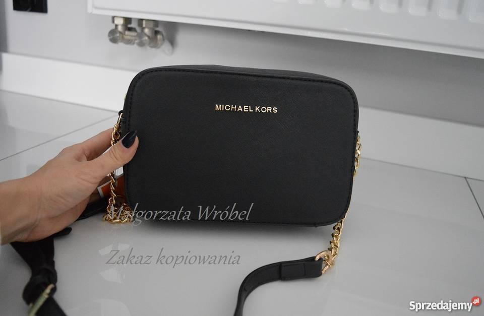 e3b4099d888d18 MICHAEL KORS mała JET SET torebka listonoszka black czerń z Adamierz ...