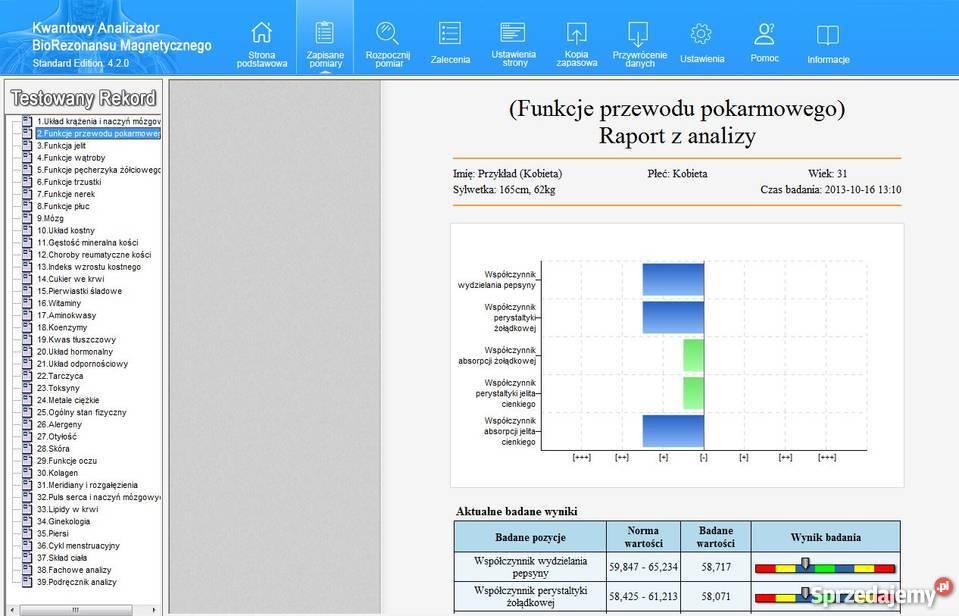 Badanie w 2 minuty analizator kwantowy mazowieckie