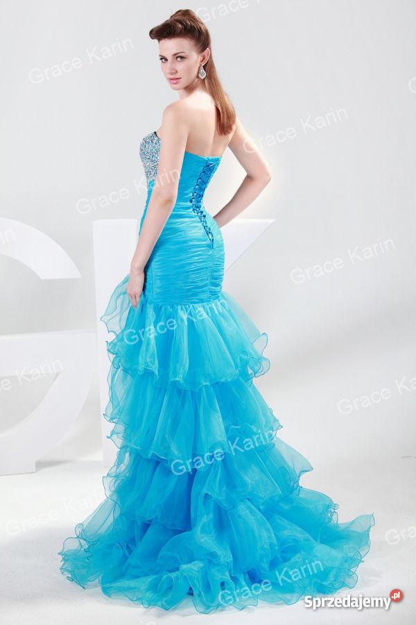 1ea2768f6b Piękna błękitna suknia z falbanami rozm.36 38 w 24 H - Sprzedajemy.pl