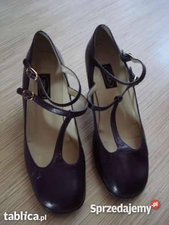 Skórzane hiszpańskie buty damskie długośc wkładki 25 cm
