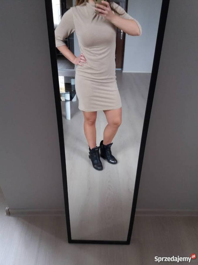 d2463ddd41f57 Sukienka złota beżowa 38 M Kielce - Sprzedajemy.pl