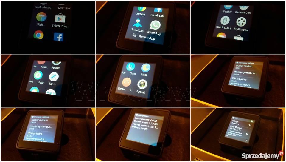 Smartwatch QW09 androd 3G wifi bluetooth 40 Wrocław