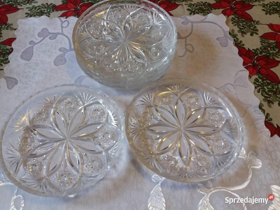 Talerzyki deserowe kryształowe
