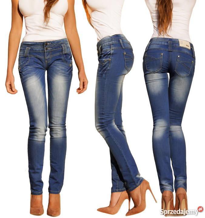 700dd91c Spodnie Damskie Jeans Denim Dopasowane Rurki Kobiece #L203