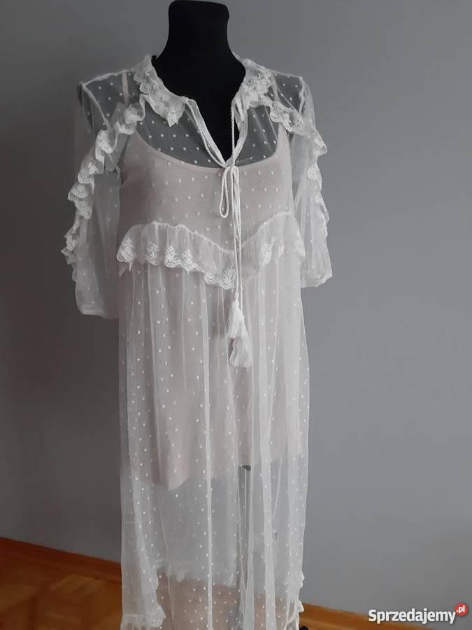 cd33942508 biała długa sukienka letnia - Sprzedajemy.pl