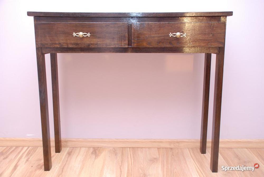 stolik konsola toaletka stoliczek drewniane Debo zachodniopomorskie Bielice sprzedam