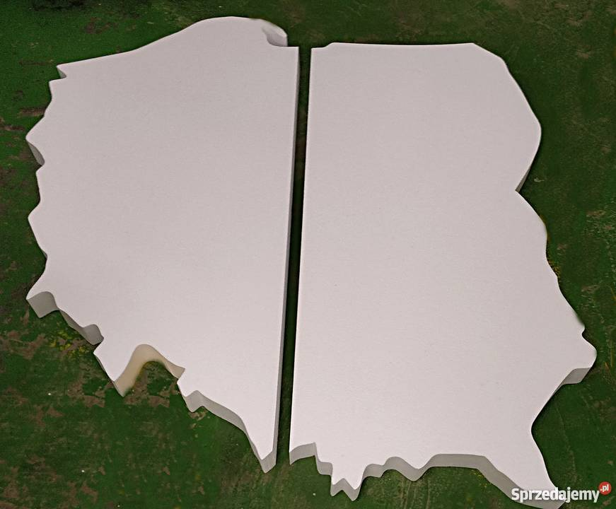 Styropianowa Mapa Polski 100 Cm X 100 Cm