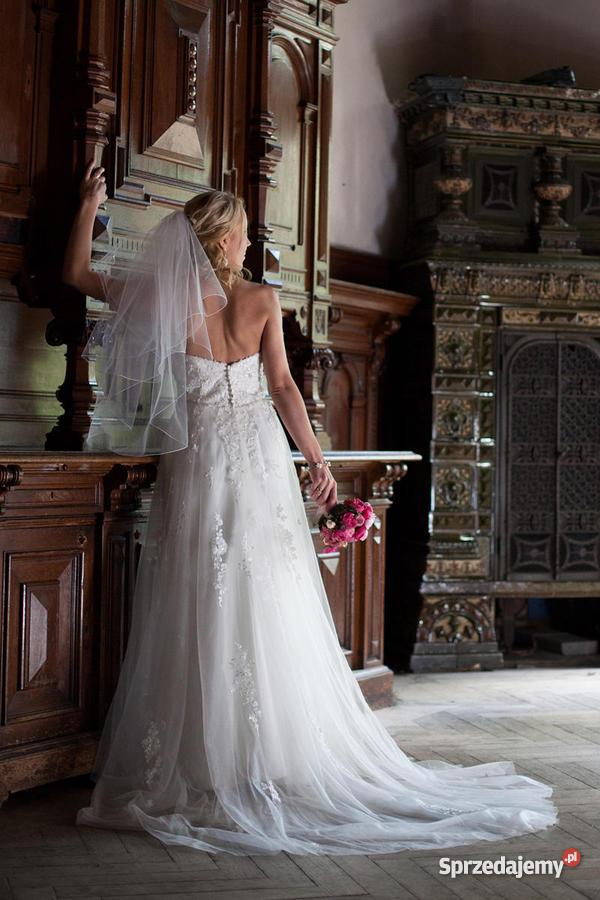 68d1445771 piękną romantyczną suknię ślubną Sincerity 3661 Szczecin sprzedam