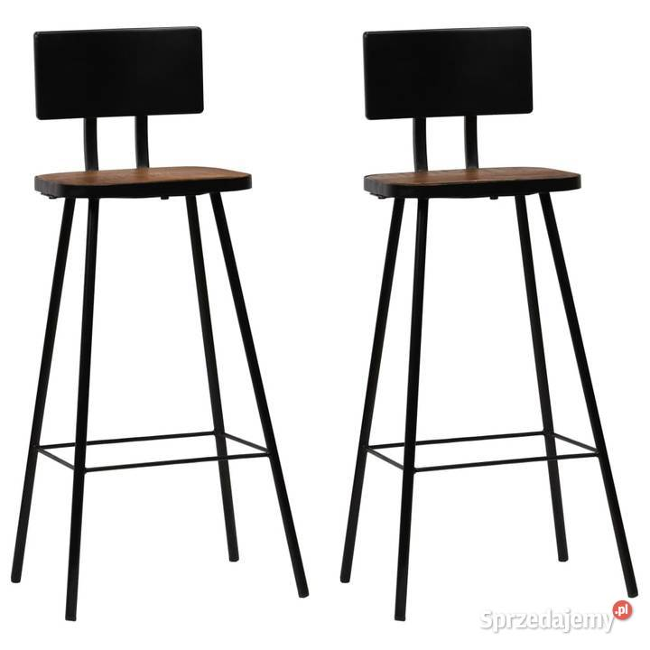 vidaXL Krzesła barowe, 2 szt., lite drewno z odzysku 245390