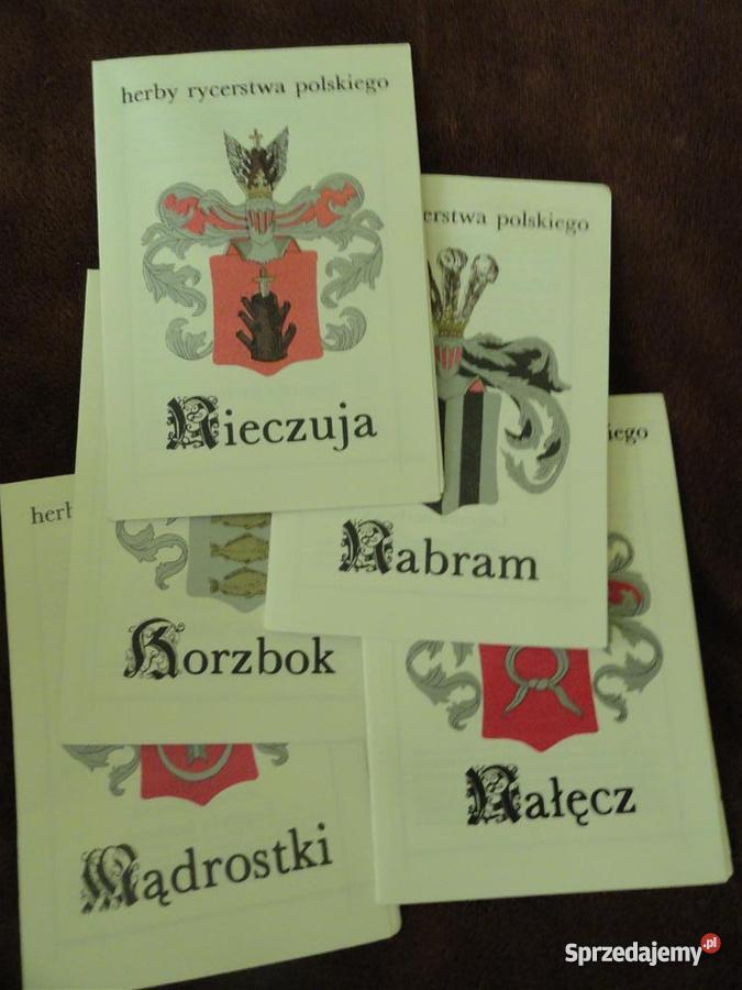 Herby Rycerstwa Polskiego 5 broszur Grajewo